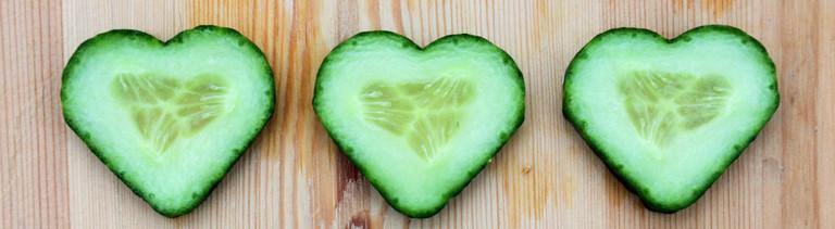 Gurken in Herzchenform