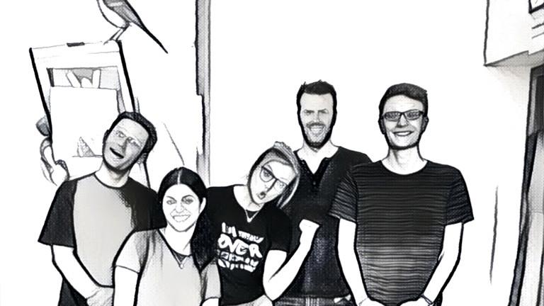 DRadio Wissen Team mit Fotofilter