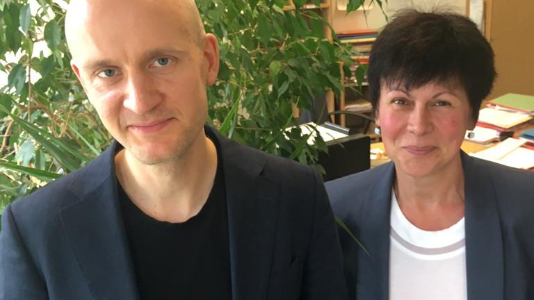Markus Oswald und Ines Karl von der Staatsanwaltschaft Berlin