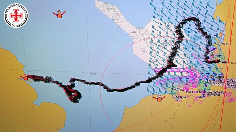 Computersimulation: Wie ist die Kamera durch die Nordsee getrieben