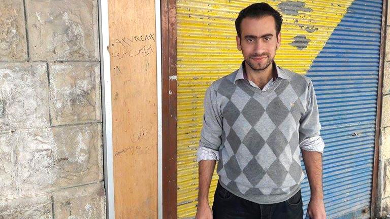 Der junge Syrer Rajaai Bourhan berichtet aus Madaja