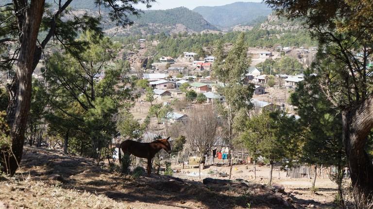 Blick auf ein Narco-Dorf im Norden Mexikos