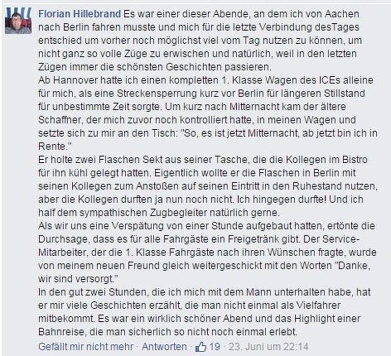 Florian Hillebrand über den verspäteten Renteneintritt