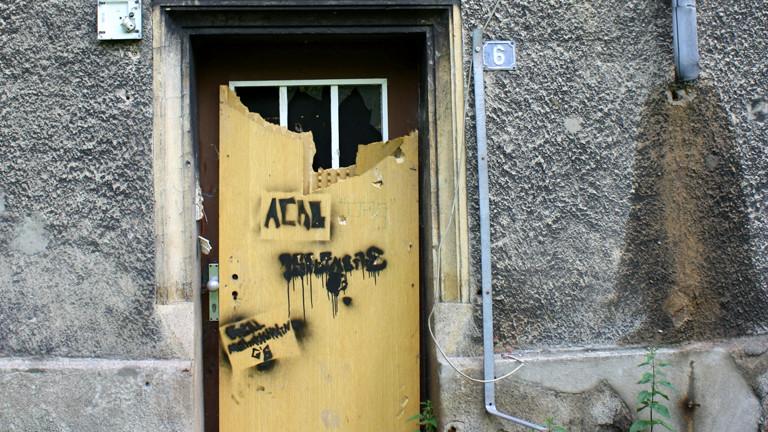 Der Zugang zu der alten Zechensiedlung im Ruhrgebiet.