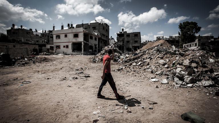 Wie Geisterstädte sehen manche Orte im Gaza-Streifen nach Bombardierungen aus.