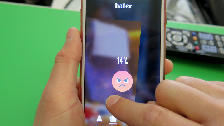 Screenshot der App Hater