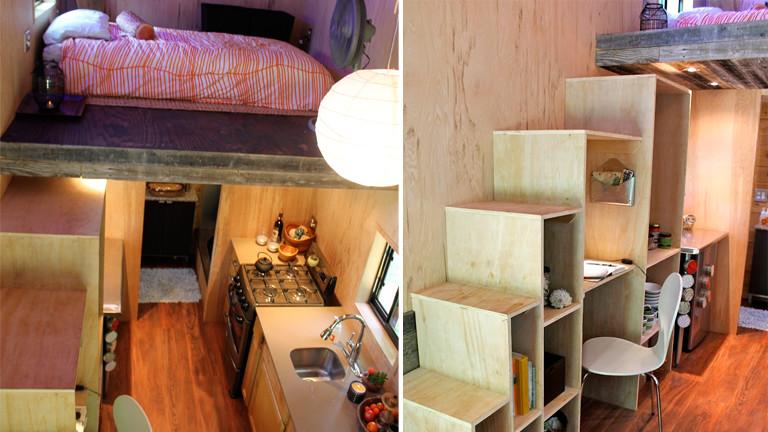 Blick in ein Tiny Home: Eine Mini-Wohnung