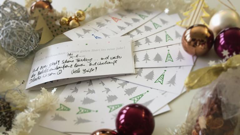 Eine DRadio Wissen Weihnachtskarte