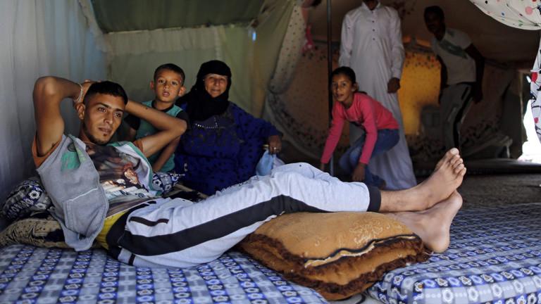 Syrische Flüchtlinge in einem türkischen Lager.