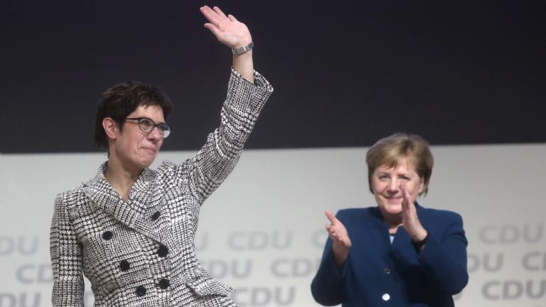 Annegret Kramp-Karrenbauer nach der Wahl zur neuen CDU-Parteivorsitzenden