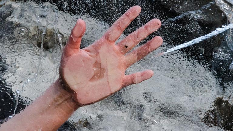 Eingefrorene Hand
