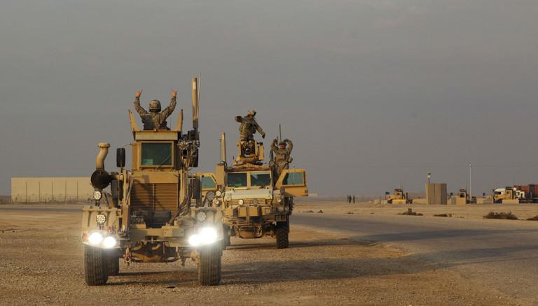 Soldaten die aus dem Irak abziehen