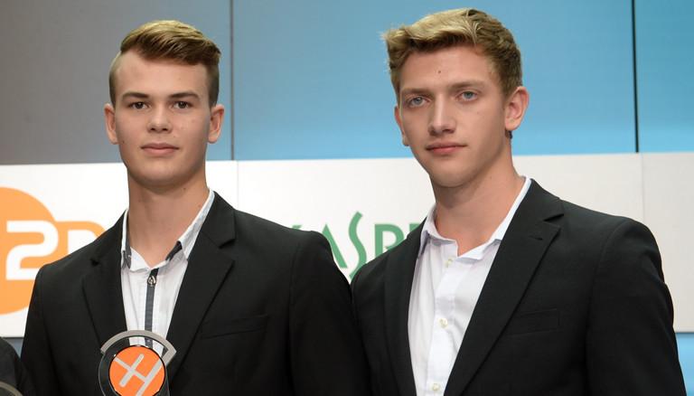 Nicholas Martin und Markus Knobloch bei der Preisverleihung des XY-Preises
