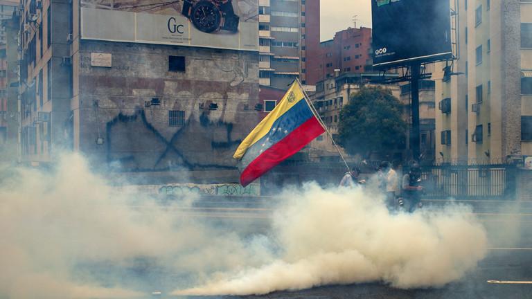 Straßenszene in Caracas, Venezuela