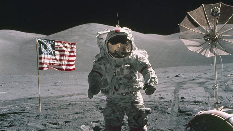 Eugene Cernan war der letzte Mensch auf dem Mond, 1972.