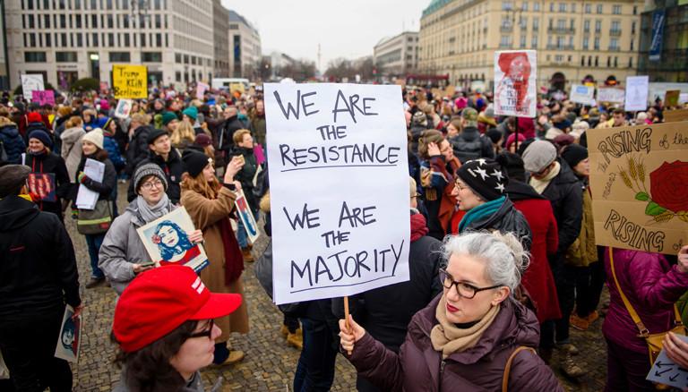 Women's march in Berlin am 21.01.2018