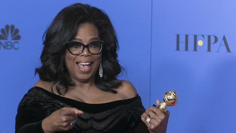 Oprah Winfrey bei den Golden Globes 2018