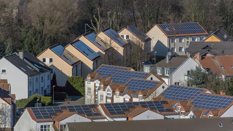 Photovoltaikanlagen auf sanierten Häusern in Bottrop