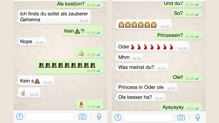 Eine Kommunikation in Emoji