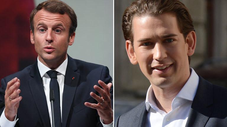Sebastian Kurz und Emmanuel Macron