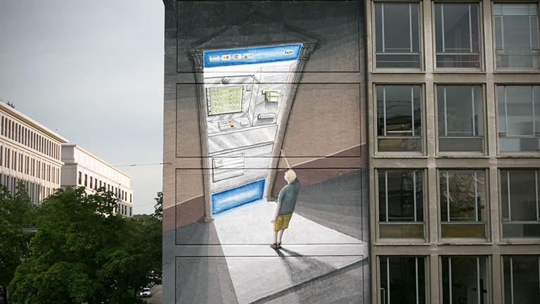 Mural des Street Art Künstlers BLU