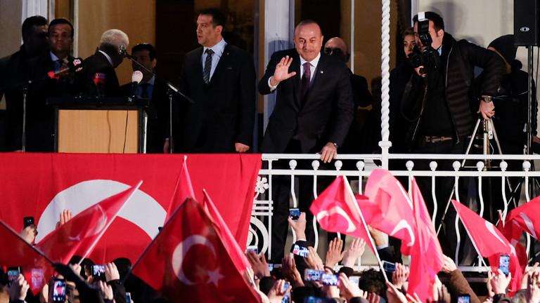 Türkische Außenminister Mevlüt Cavusoglu