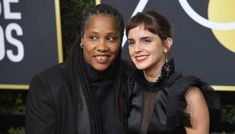 Marai Larasi und Emma Watson bei den Golden Globes 2017