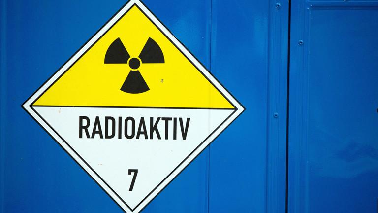 Warnschild: Radioaktiv