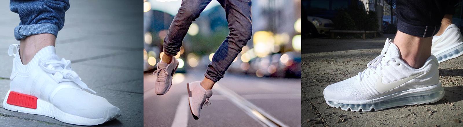 Turnschuhe ohne Socken
