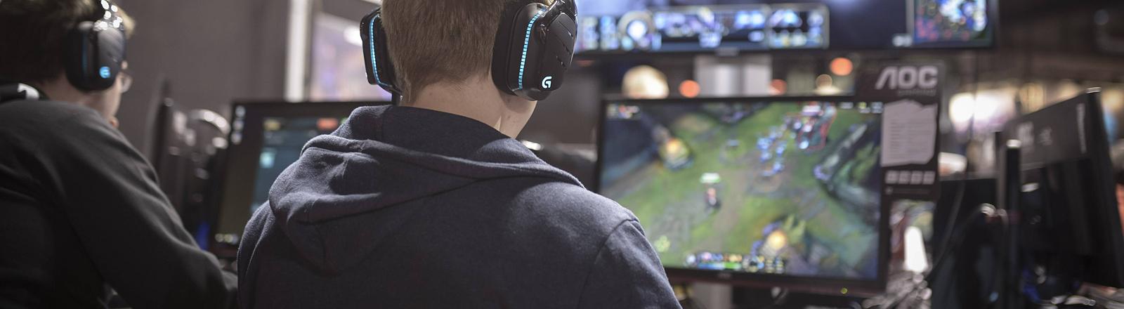 Gamer beim Spiel