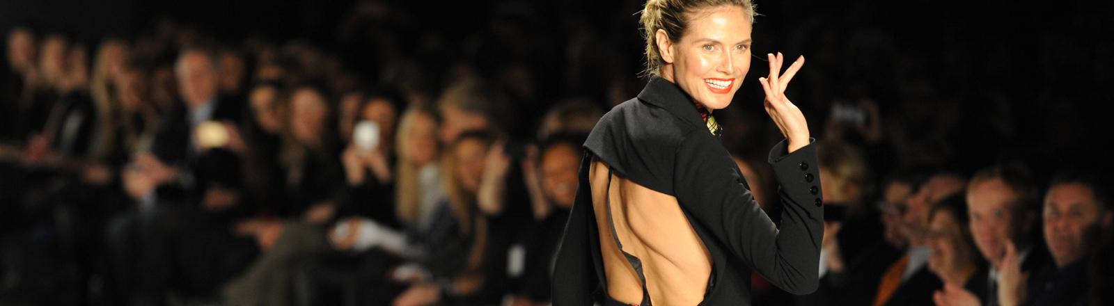 Heidi Klum auf der New York Fashion Week