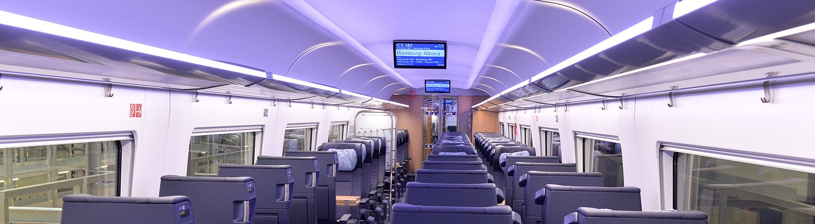 Sitzplätze im Zugwagen