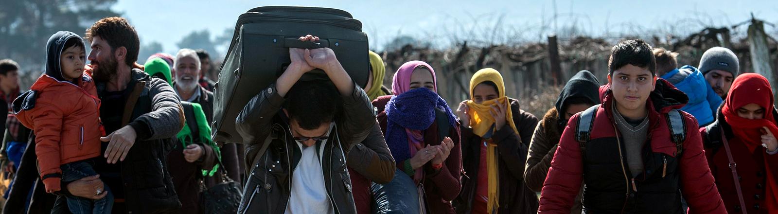 Flüchtlinge auf der Balkan-Route
