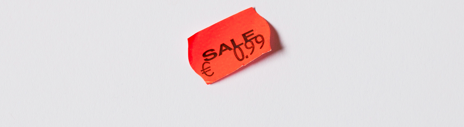 oranges Preisschild, Rabatt