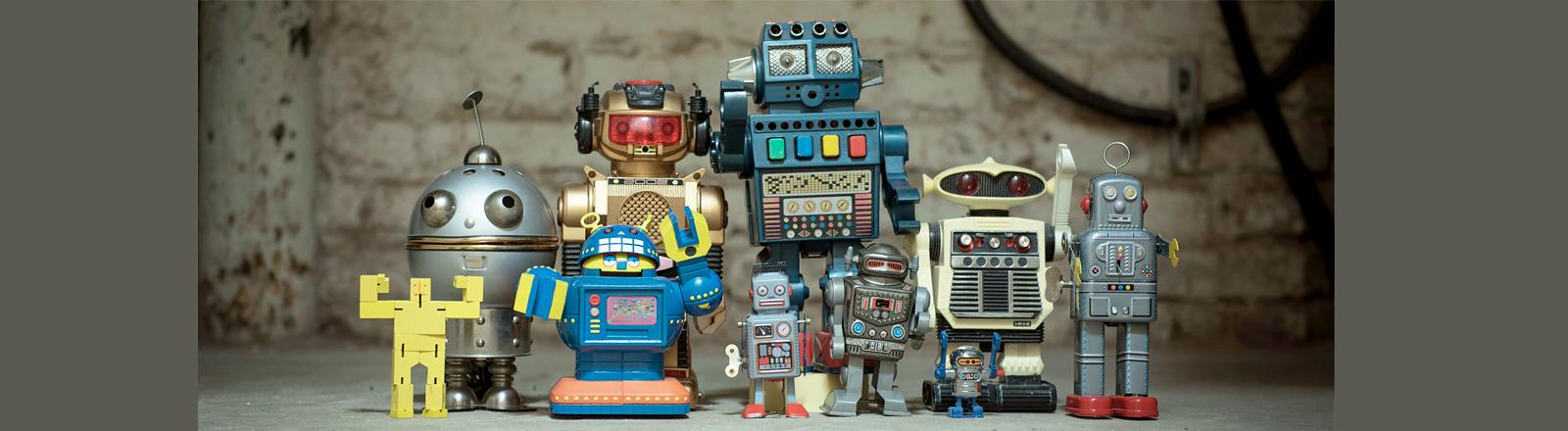 Roboter in einer Reihe