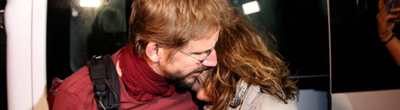 Peter Steudtner nach seiner Haftentlassung in der Türkei (25.10.2017).