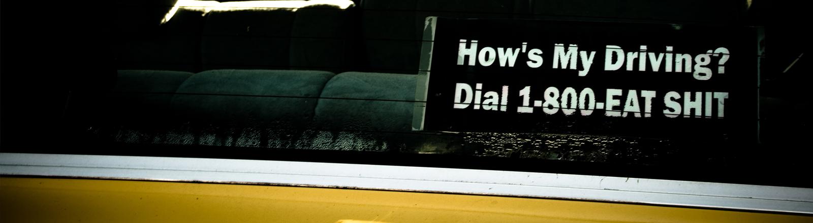 Ein Taxi von innen