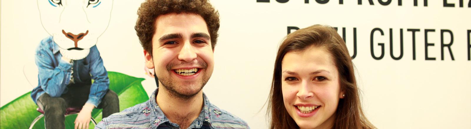 Carina Lange und Alexander Kauschanski sind Jugenddelegierte der Vereinten Nationen