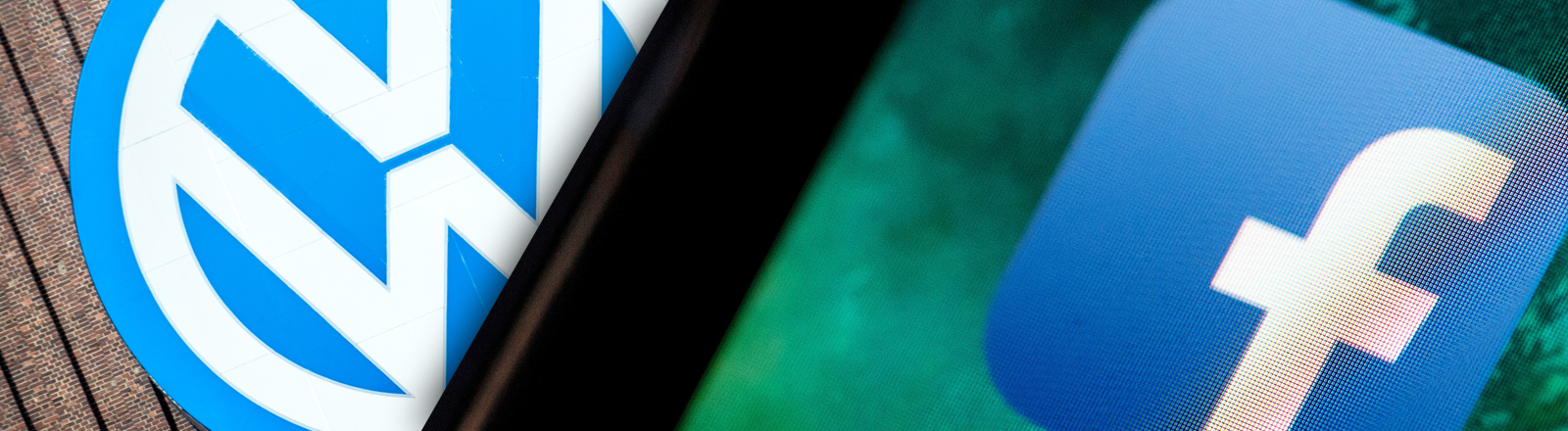 Facebook- und VW-Logo