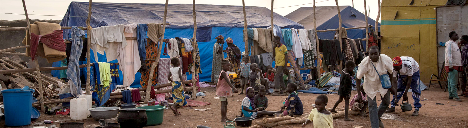 Ein Flüchtlingscamp in Bamako, Mali