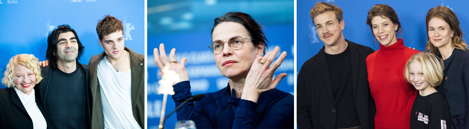 Darsteller und Regisseure der drei deutschen Filme im Berlinale-Wettbewerb