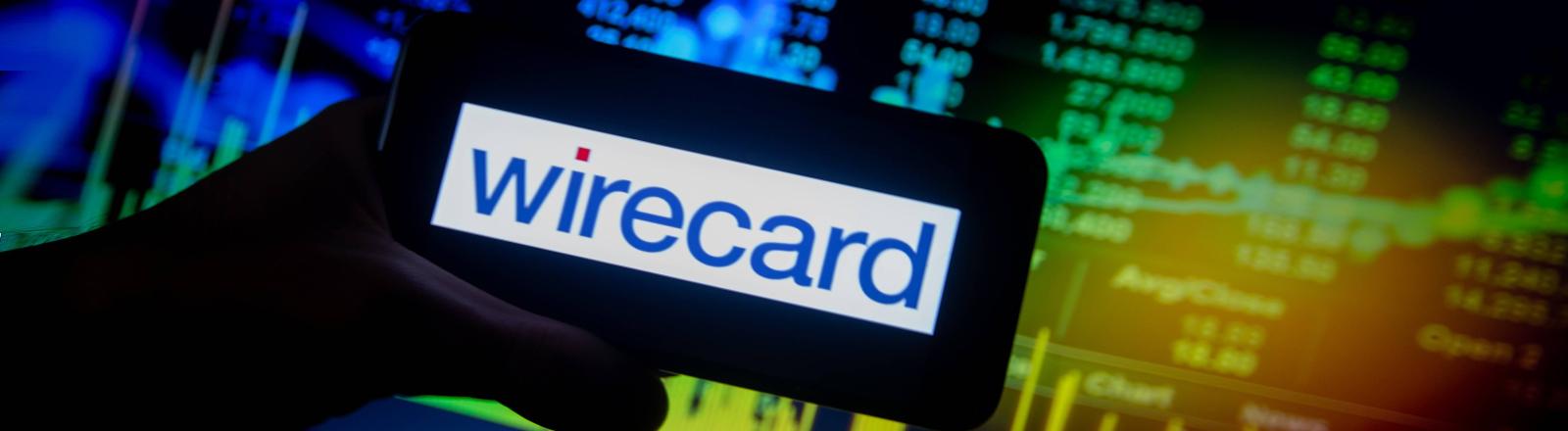Wirecard Firmenlogo auf Smartphone