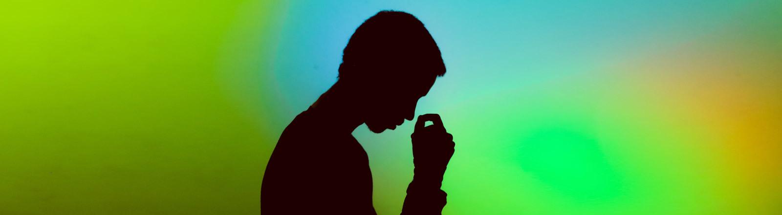 Die Silhouette eines Mannes