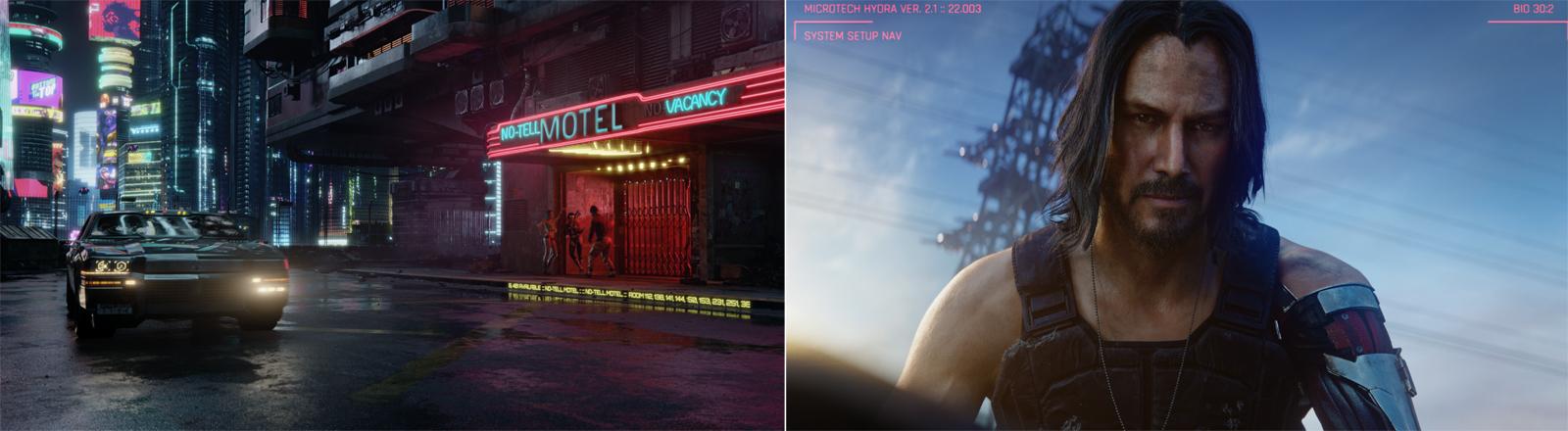 "Keanu Reeves in dem Spiel ""Cyberpunk 2077"""