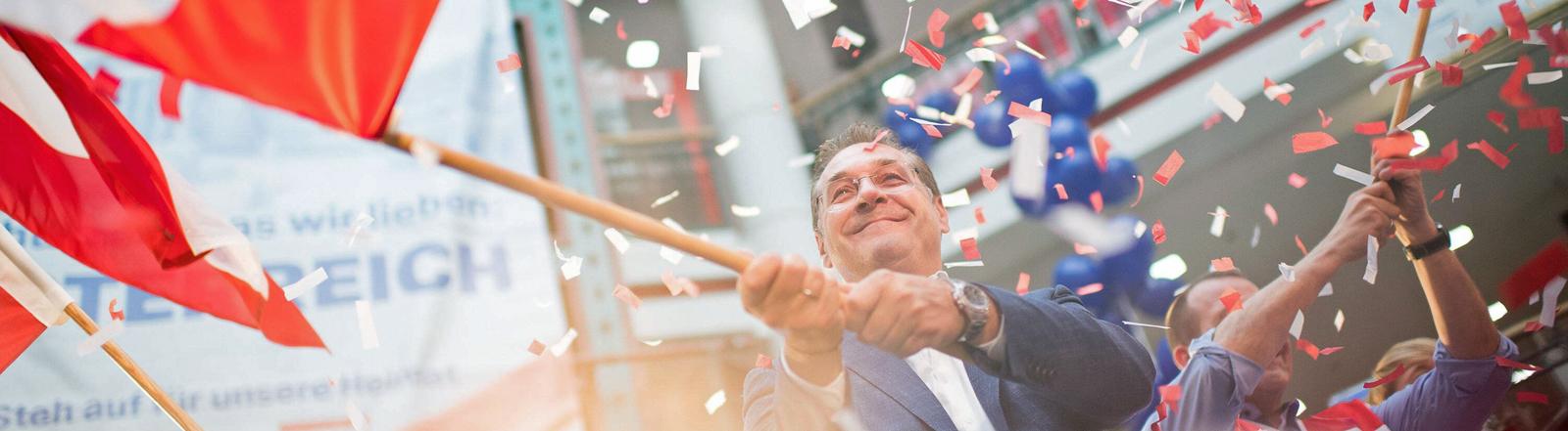 Im Wahlkampf: FPÖ-Vizekanzler Heinz-Christian Strache