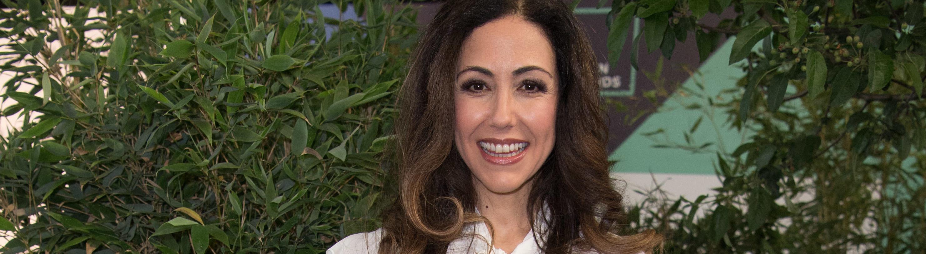Moderatorin Anastasia Zampounidis