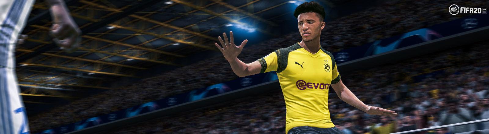 Screenshot aus dem Game Fifa 20 des Unternehmens EA.
