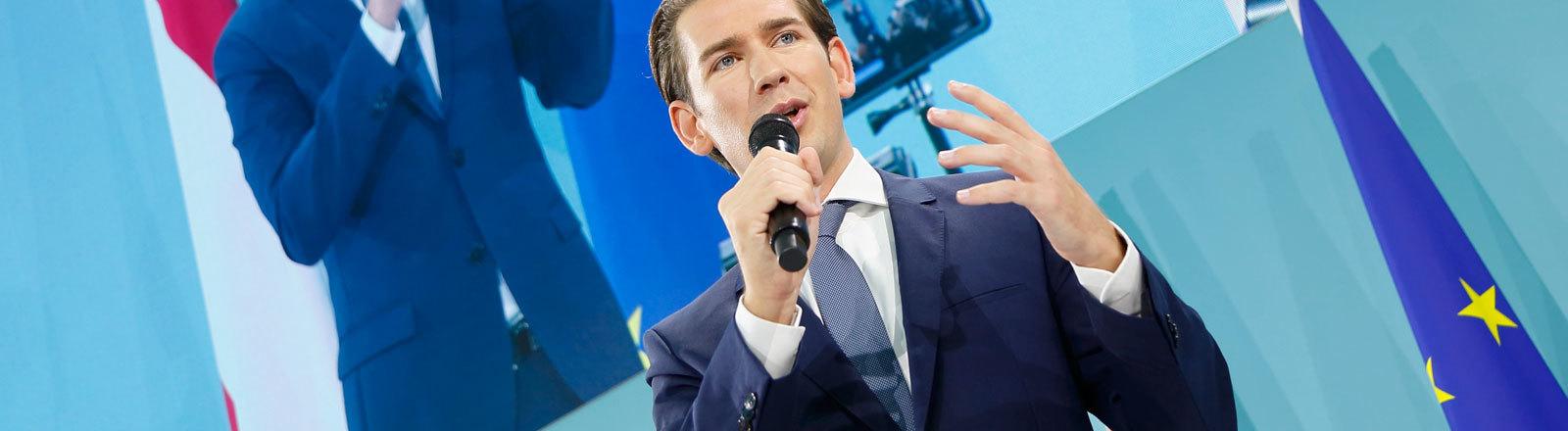 Sebastian Kurz am Abend des Wahltages im Wiener Kursalon. Seine ÖVP feiert den Wahlsieg (29.09.2019).