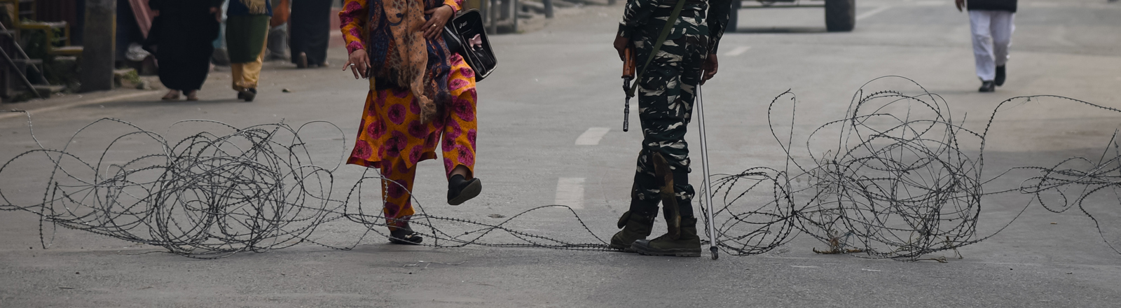 Indische Soldaten in Kaschmir