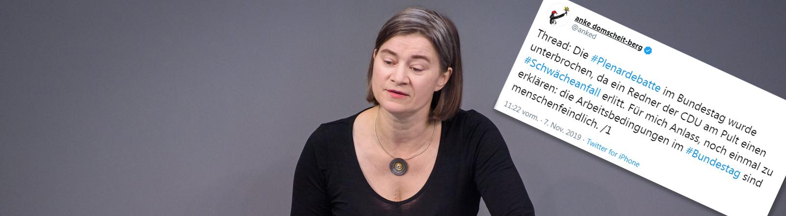 Anke Domscheit-Berg während einer Sitzung des deutschen Bundestags am 18.10.2019